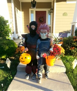 The boys right before trick-or-treating.