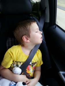 Less than 3 hours later, and not even half way through Louisiana, the kid passed out.
