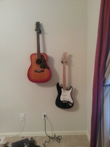 Two guitars!